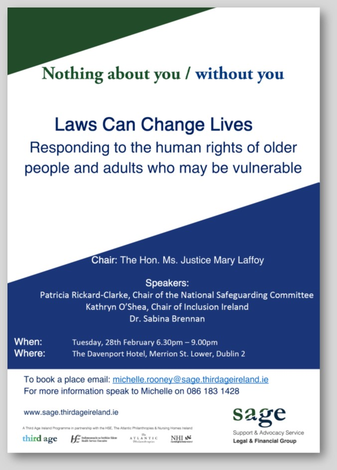SAGE- Laws can change lives- Responding to the human rights of older people and adults who may be vulnerable